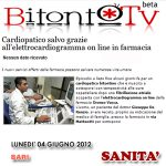 Cardiopatico salvo grazie all ecg on line in farmacia